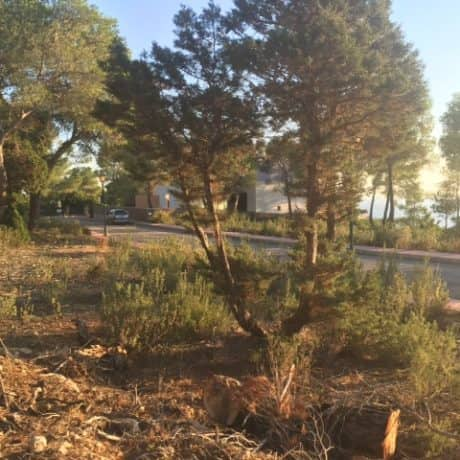Plot for sale in the private urbanization of Vista Alegre, Ibiza.