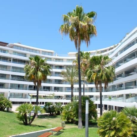 Seafront 2 bedroom apartment for sale in Marina Botafoc, Ibiza.