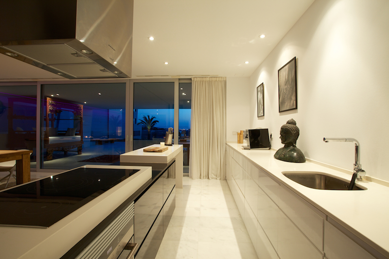 Large apartment for sale with sea view in a private urbanization of Es Pouet, Ibiza