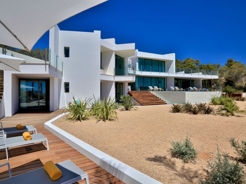 New designer villa with 6 bedroom's for sale in private urbanization of Vista Alegre zone San Jose, Ibiza