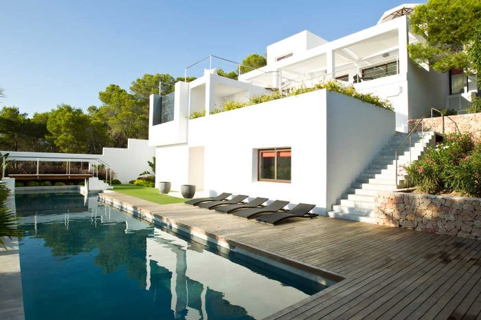Modern villa for sale, walking distance to Cala Salada beach, Ibiza