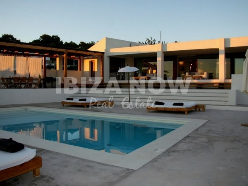 Large villa with a tennis court for sale in Jesus, Ibiza