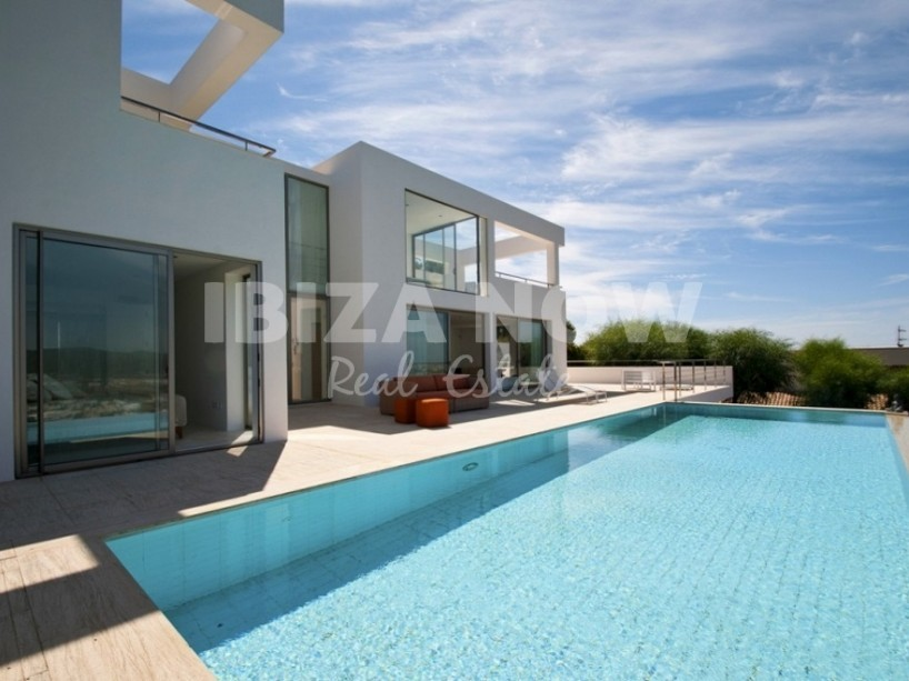 Modern villa for sale in private urbanisation close to Ibiza town.