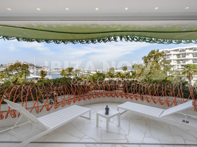 Modern front line apartment for sale in Marina Botafoc, Ibiza.