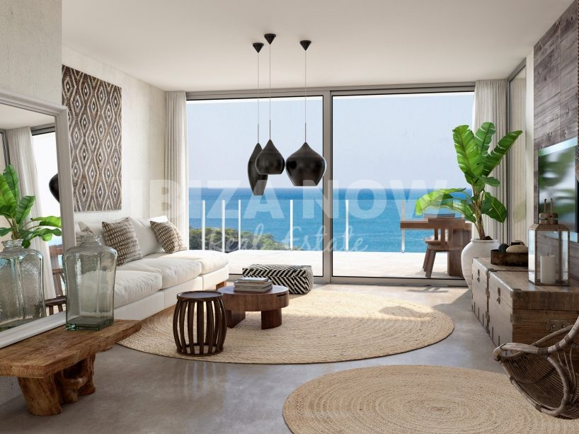 New build apartments to buy in Cala Vadella, Ibiza