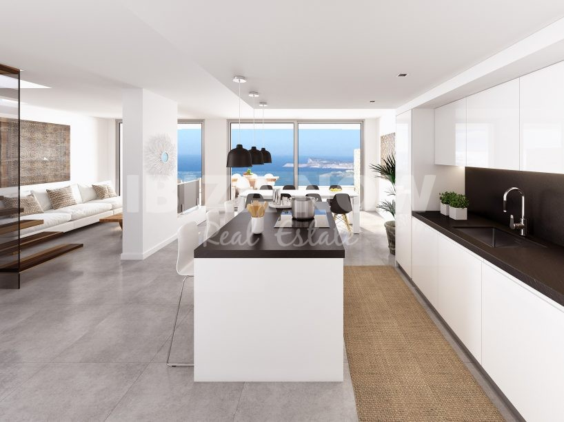 New penthouse for sale in Cala Vadella, Ibiza