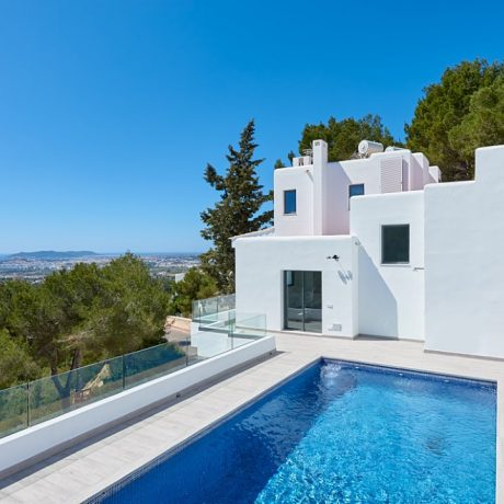 New build Finca style villa for sale in private urbanization close to Ibiza.