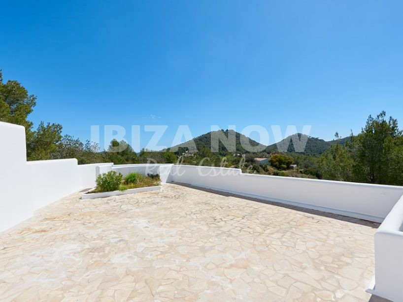 New build Finca style villa for sale in private urbanization close to Ibiza