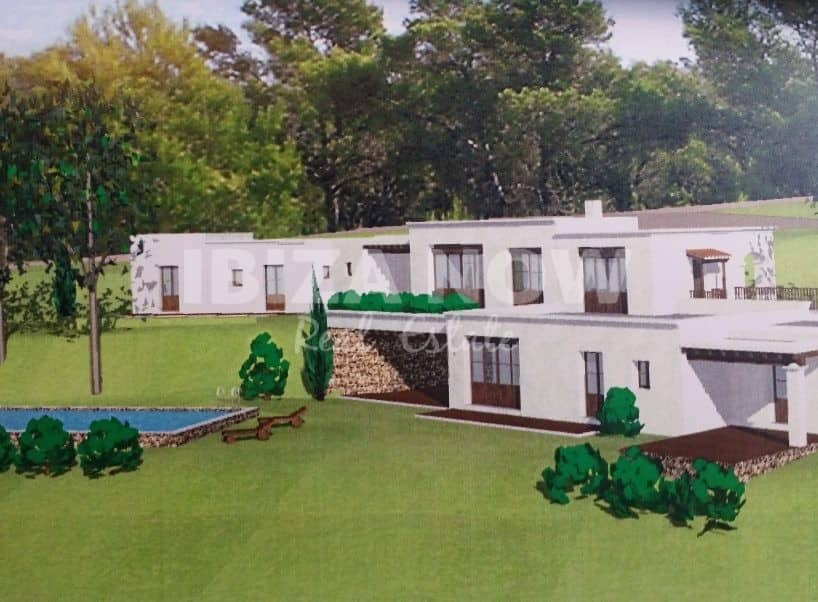 Large villa for sale in quiet location and close to Ibiza Town.
