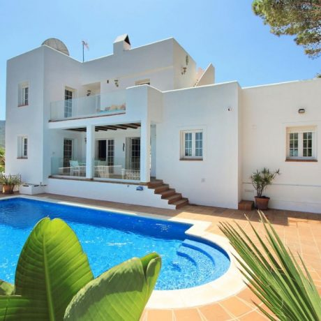 Modern Ibiza style house for sale in Cala Vadella, Ibiza.