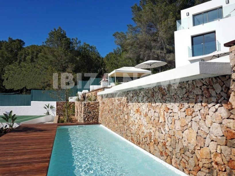 Large modern villa for sale in Cala Salada, Ibiza.