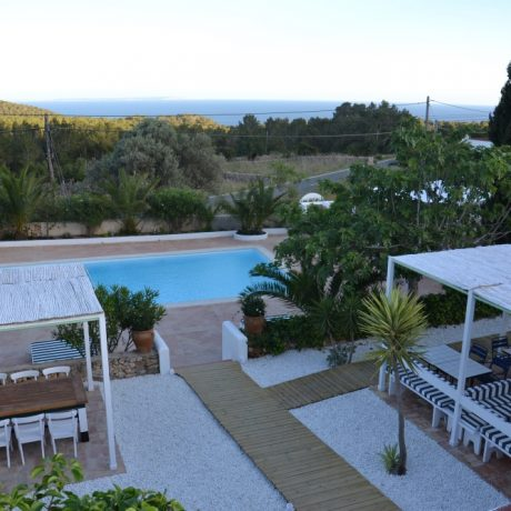 Villa for sale with restaurant license in Es Cubells, Ibiza.