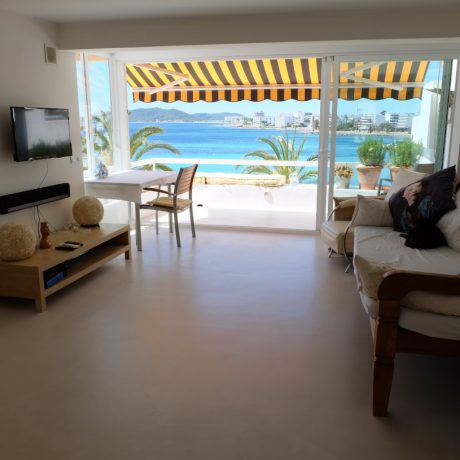Sea view 2 bedroom apartment for sale in Figueretas, Ibiza