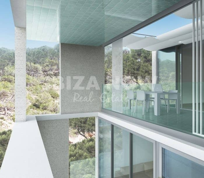 New to build modern apartments for sale in Cala Vadella, Ibiza