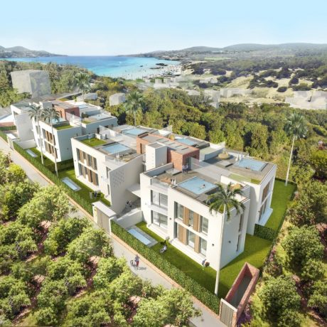 Modern new to build apartments for sale in Portinax, Ibiza.