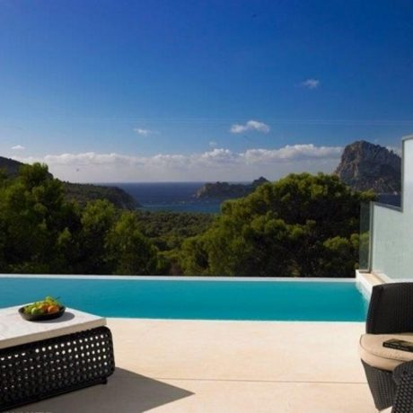 3 bedroom townhouse for sale with views to Es Vedra, Ibiza.