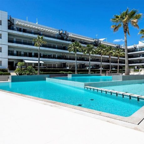 Large frontline 4 bedroom apartment for sale in Playa Den Bossa, Ibiza.