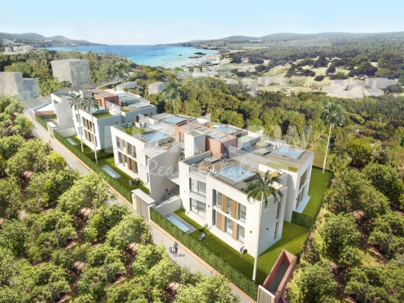 New build 3 bedroom penthouse for sale in Portinax, Ibiza