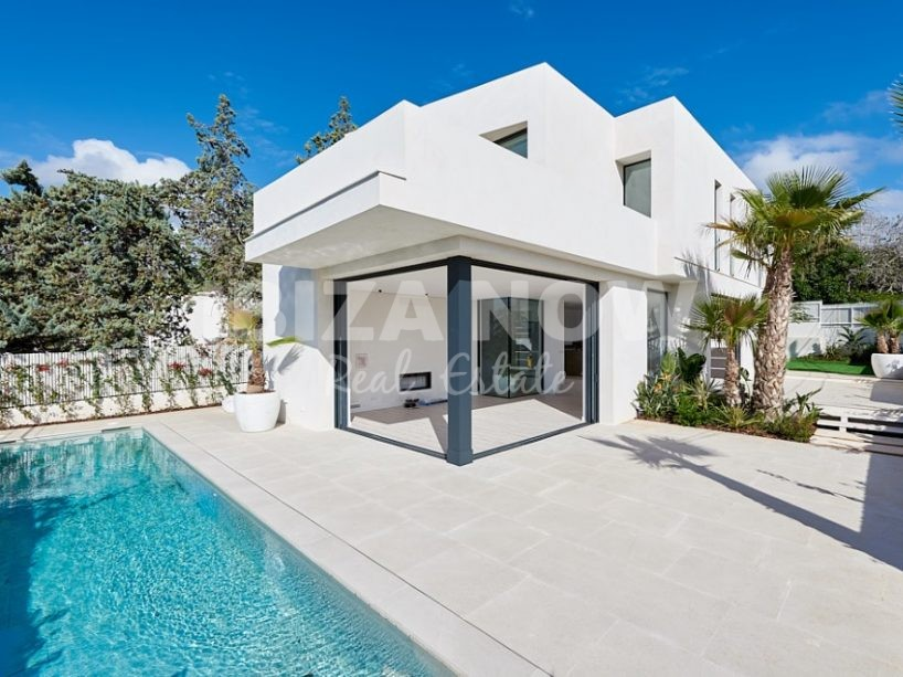 Modern villa for sale close to Talamanca beach, Ibiza.
