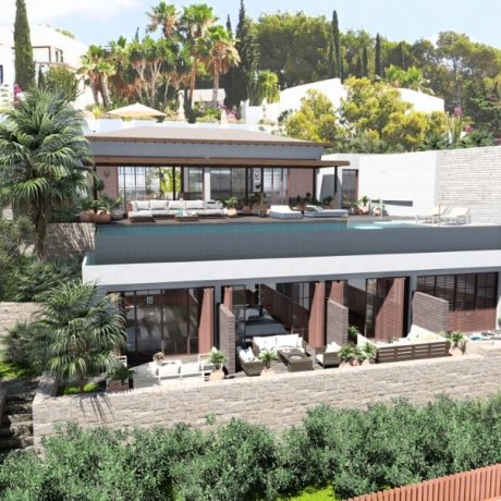 Modern new to built 6 bedroom villa close to Talamanca beach, Ibiza.