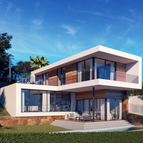 New construction villa for sale in Santa Eularia, Ibiza.