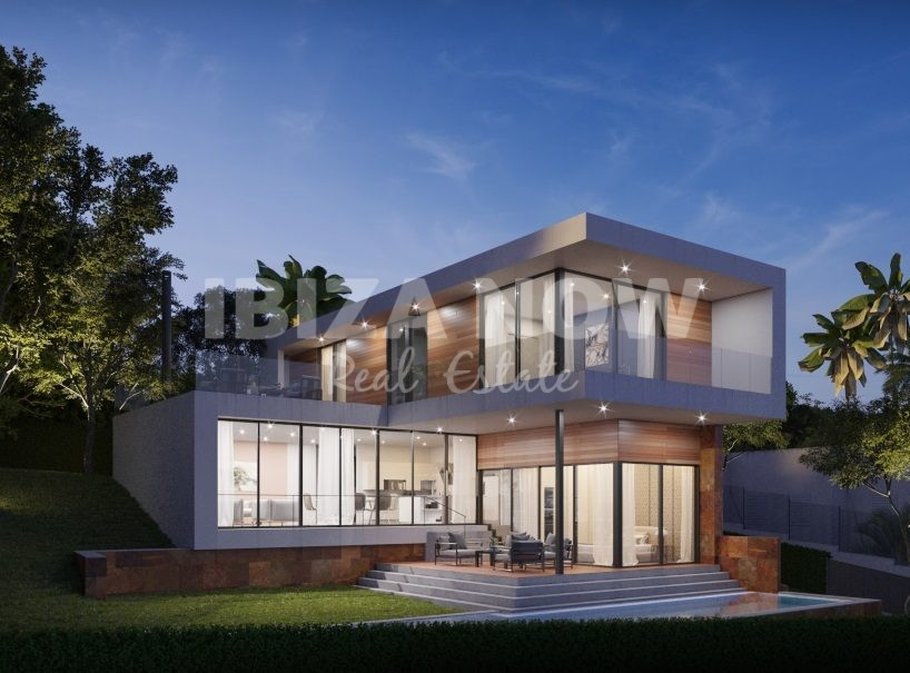 New construction villa for sale in Santa Eularia, Ibiza