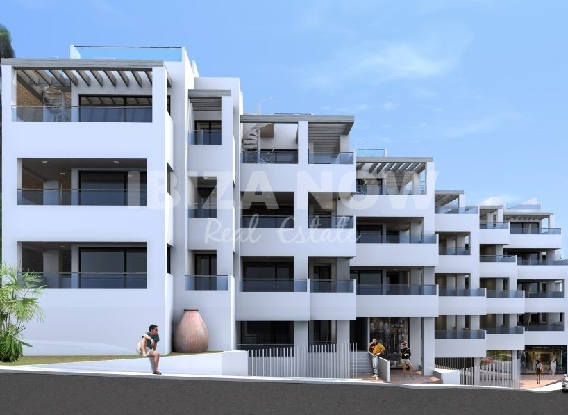 Nice 1 bedroom apartment for sale on frontline beach in Cala Vadella, Ibiza.
