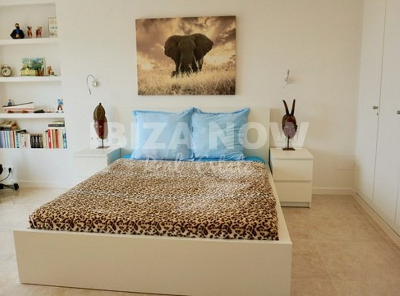 Beautiful 3 bedroom frontline townhouse for sale in Cala Tarida, Ibiza