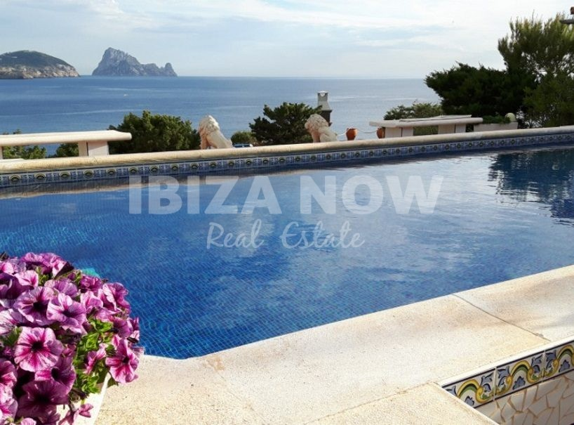 Frontline 5 bedroom villa for sale close to Cala Conta, Ibiza