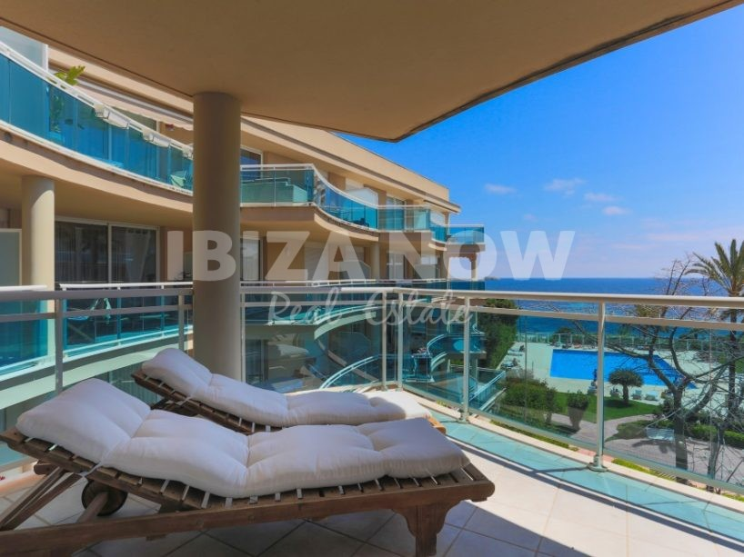2 bedroom frontline apartment for sale in Playa Den Bossa, Ibiza.