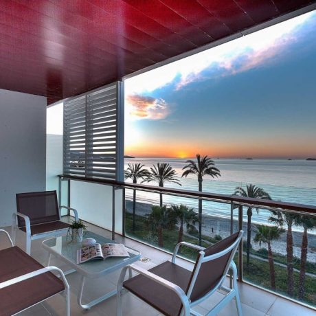 Beautiful frontline 2 bedroom apartment for sale in Playa Den Bossa, Ibiza.