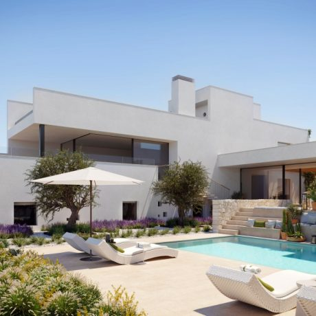 Luxury villas for sale close to the beach of Cala Conta, Ibiza.