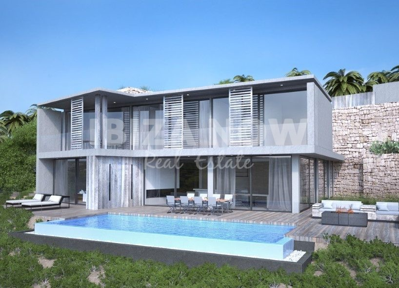 Plot with building license for sale in Cala Moli, Ibiza.