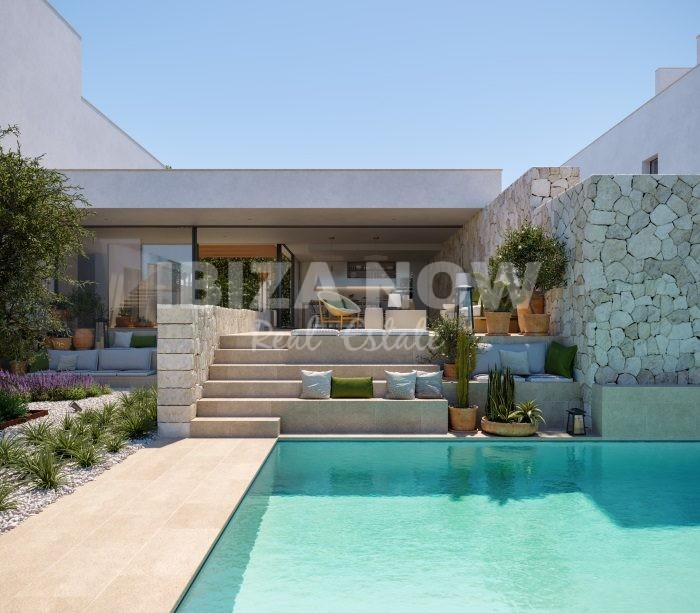 Luxury villas for sale close to the beach of Cala Conta, Ibiza