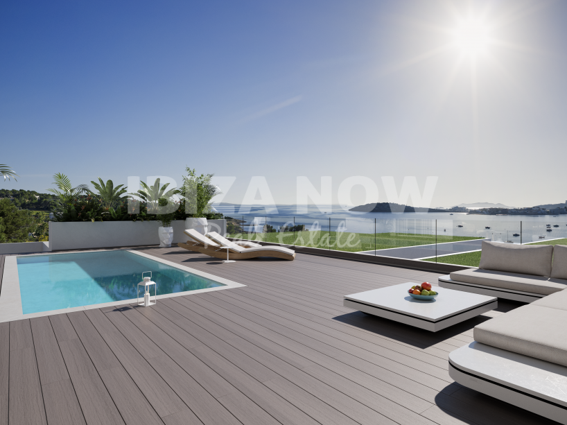 First line apartments for sale in Talamanca, Ibiza