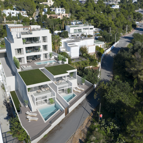 First line apartments for sale in Talamanca, Ibiza.