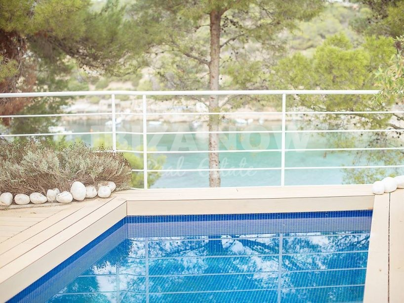 Charming first sea line house for sale in Cala Vadella, Ibiza