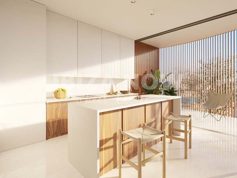 New to built ultra modern apartments for sale in Talamanca, Ibiza