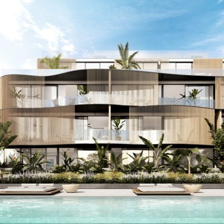 Beautiful new to built ground floor 3 bedroom apartment for sale in Talamanca, Ibiza.