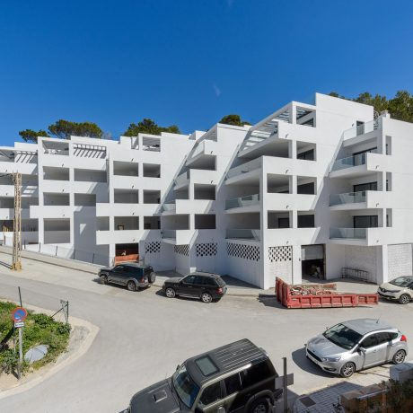 Frontline 1 bedroom apartment for sale in Cala Vadella, Ibiza.