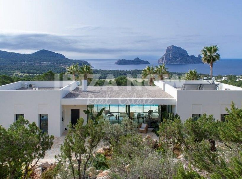 Modern villa for sale with views of Es Vedra, Ibiza.
