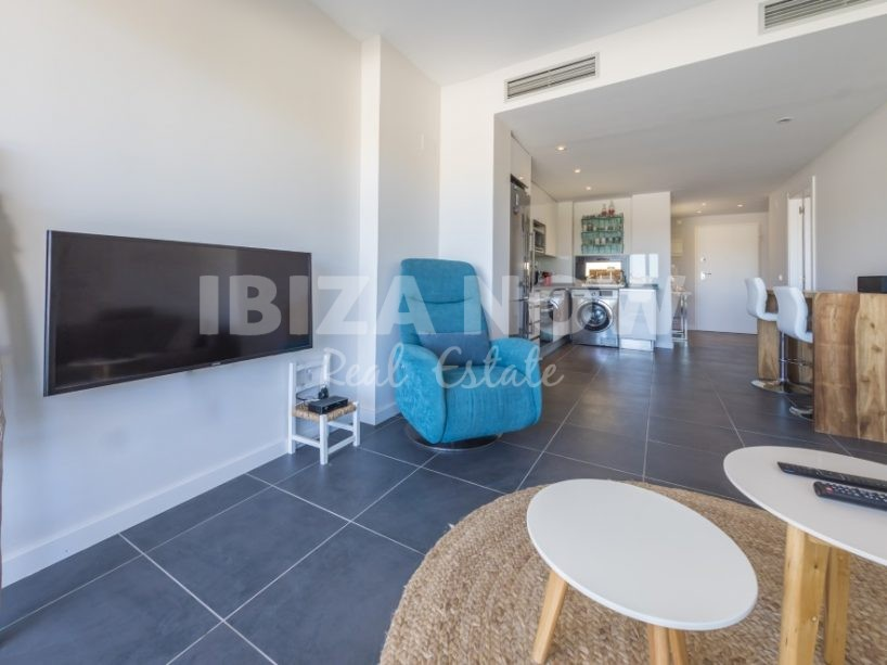 Front line 1 bedroom apartment for sale in Cala Vadella, Ibiza