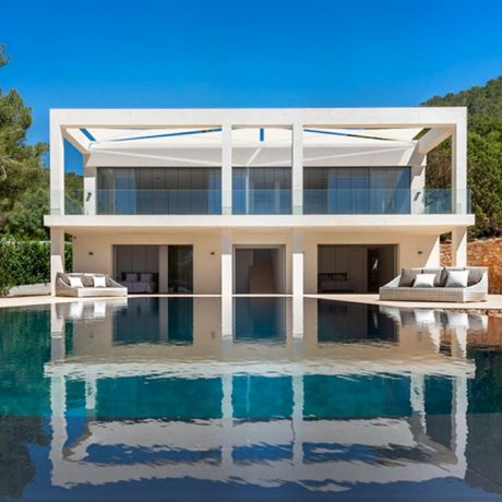 Modern 6 bedroom villa for sale in Es Cubells, Ibiza.