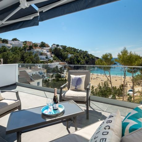 1 bedroom frontline penthouse for sale in Cala Vadella, Ibiza.