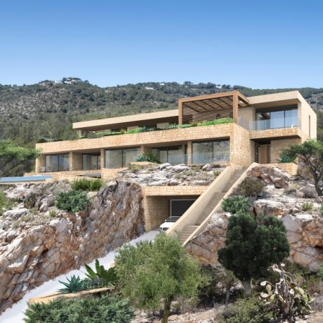 Plots with project and building license for sale in San Miquel, Ibiza.