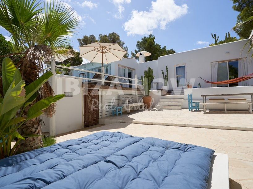 Nice Ibiza style house with 4 bedrooms for sale in Cala Vadella, Ibiza.
