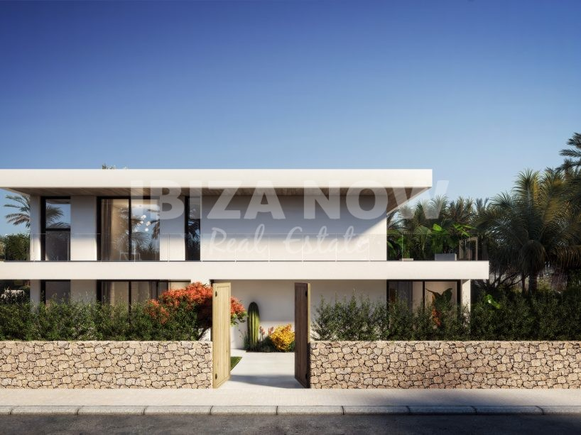 For sale a plot with a project to build a villa in Talamanca, Ibiza