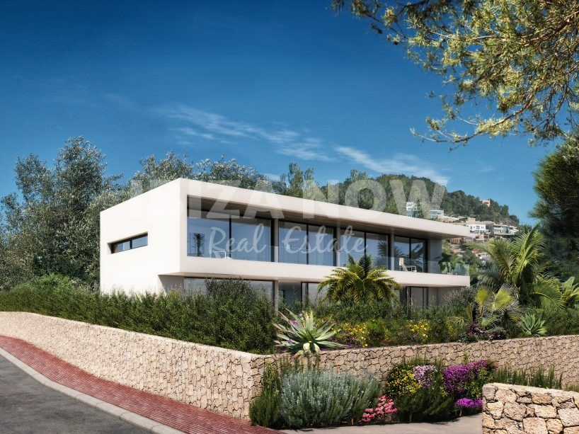Plot for sale with a project to build a villa in Talamanca, Ibiza