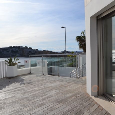 Frontline 3 bedroom townhouse for sale in Talamanca, Ibiza.