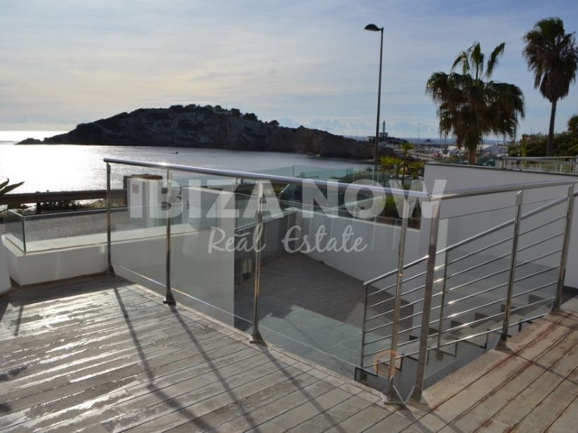 Frontline 3 bedroom townhouse for sale in Talamanca, Ibiza